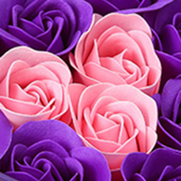 11-Piezas-Caja-Jabon-Rosa-Flor-Artificial-Decoracion-De-La-Boda-Diy-En-For-4M4 miniatura 25