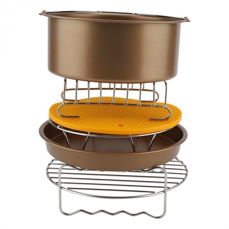 5X (Air Fryer Accessoires 8 in (environ 20.32 cm) pour 9 Pièces Air Fryer Gateau Baril Pizza PA N3C7