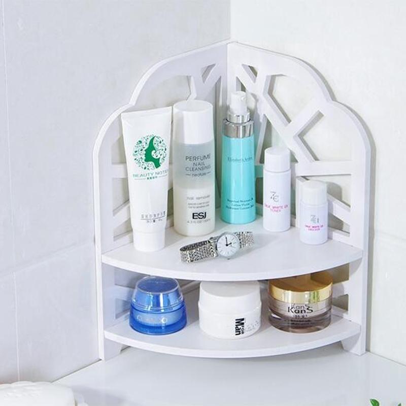 Desktop-Kosmetics-Organizer-Badezimmer-Lager-Regal-Ecken-Regal-N7N7 Indexbild 2
