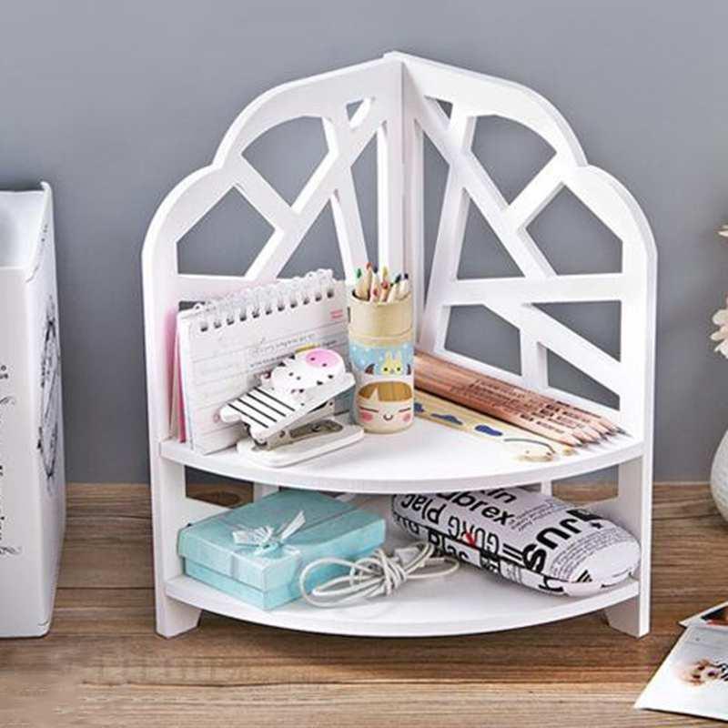 Desktop-Kosmetics-Organizer-Badezimmer-Lager-Regal-Ecken-Regal-N7N7 Indexbild 5