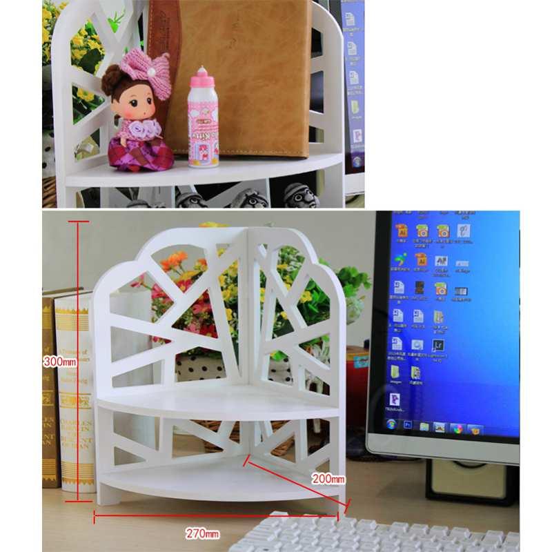 Desktop-Kosmetics-Organizer-Badezimmer-Lager-Regal-Ecken-Regal-N7N7 Indexbild 7