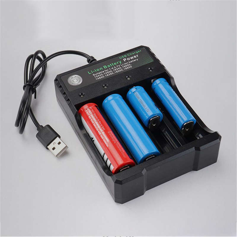 Rechargeable-4-Slot-Battery-Charger-Li-Ion-Usb-Smart-Fast-Charger-For-18350-9E8 thumbnail 2