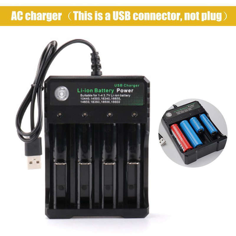 Rechargeable-4-Slot-Battery-Charger-Li-Ion-Usb-Smart-Fast-Charger-For-18350-9E8 thumbnail 6