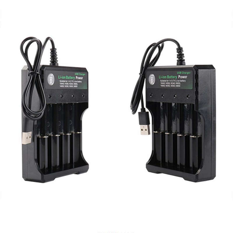 Rechargeable-4-Slot-Battery-Charger-Li-Ion-Usb-Smart-Fast-Charger-For-18350-9E8 thumbnail 8