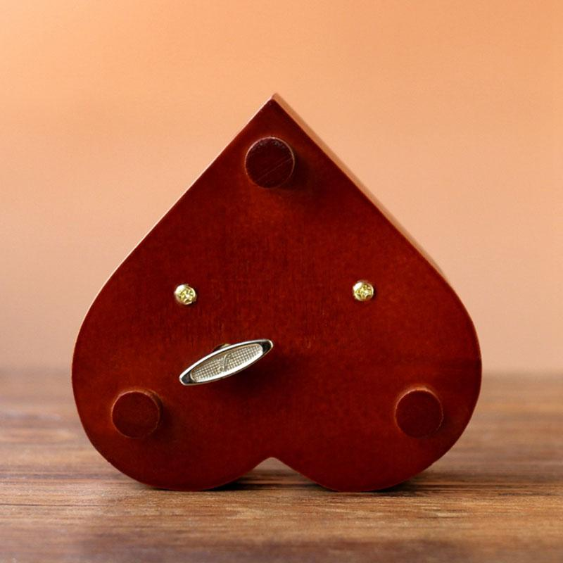 Creative-Heart-Shaped-Vintage-Wood-Carved-Mechanism-Musical-Box-Wind-Up-Mus-V3J8 thumbnail 3