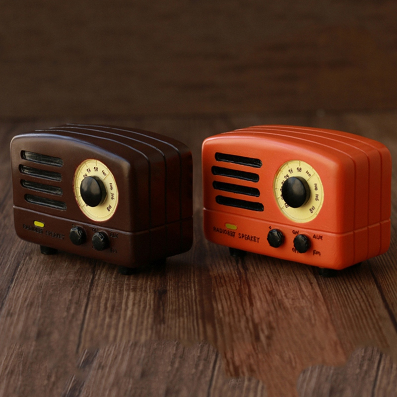 Retro-Nostalgic-Radio-Music-Box-Home-Decorations-1Pcs-Classical-Square-Hand-W4X6 thumbnail 11