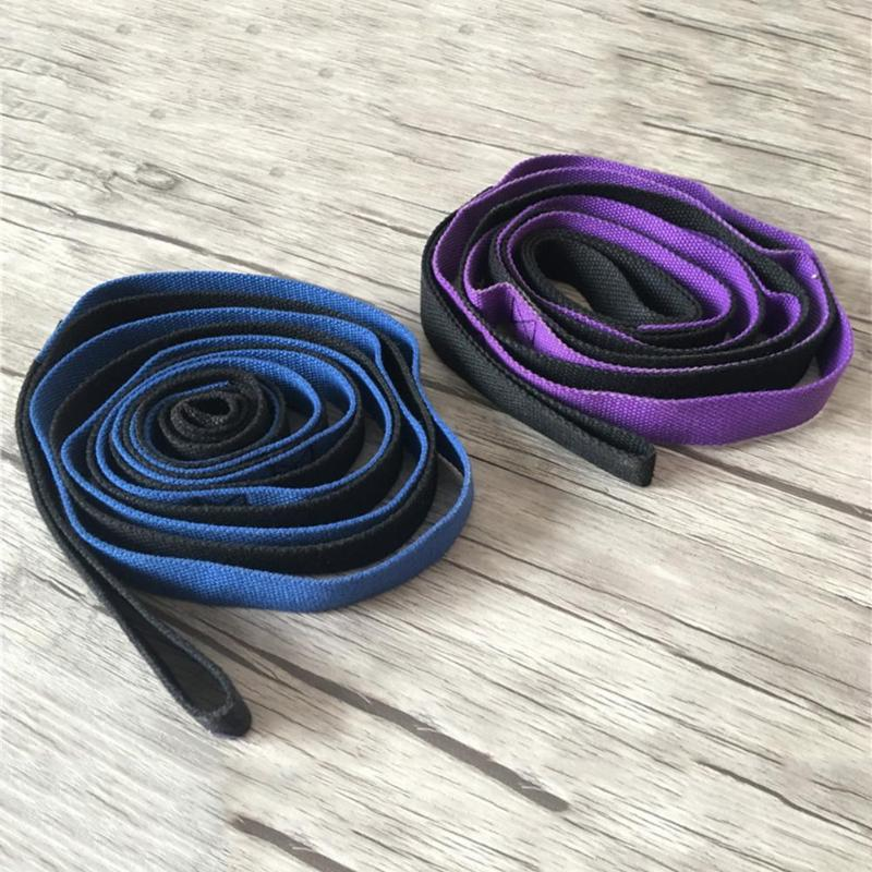 2M-6-6Ft-Yoga-Stretch-Strap-Aerial-Yoga-Anti-Gravity-Rope-With-Grip-Loops-F-L1R2 thumbnail 7
