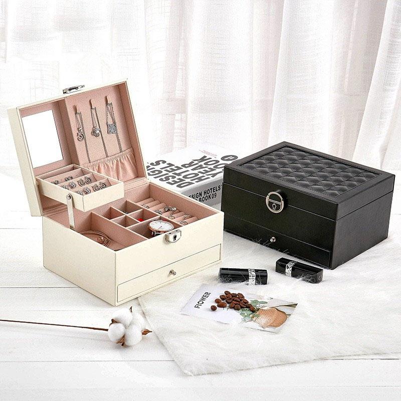 Design-De-Mode-En-Cuir-Boite-A-Bijoux-Coffret-A-Bijoux-Paquet-De-Bijoux-Sto-K6E3 miniature 3