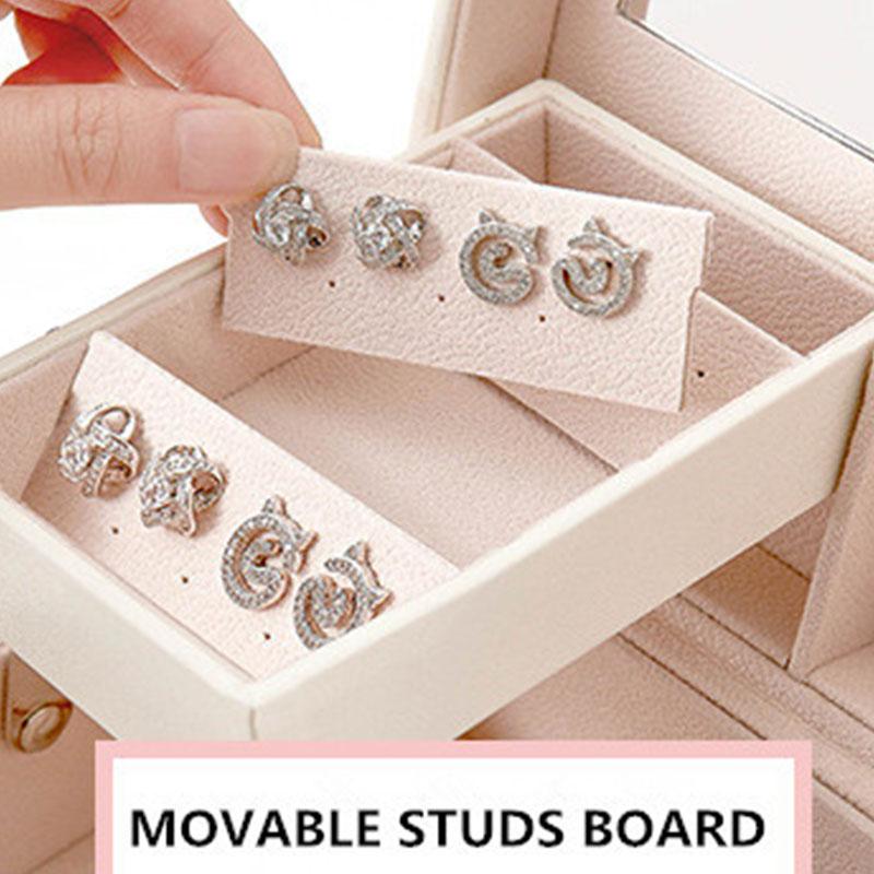 Design-De-Mode-En-Cuir-Boite-A-Bijoux-Coffret-A-Bijoux-Paquet-De-Bijoux-Sto-K6E3 miniature 5