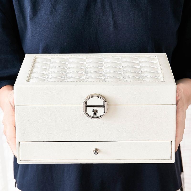 Design-De-Mode-En-Cuir-Boite-A-Bijoux-Coffret-A-Bijoux-Paquet-De-Bijoux-Sto-K6E3 miniature 9