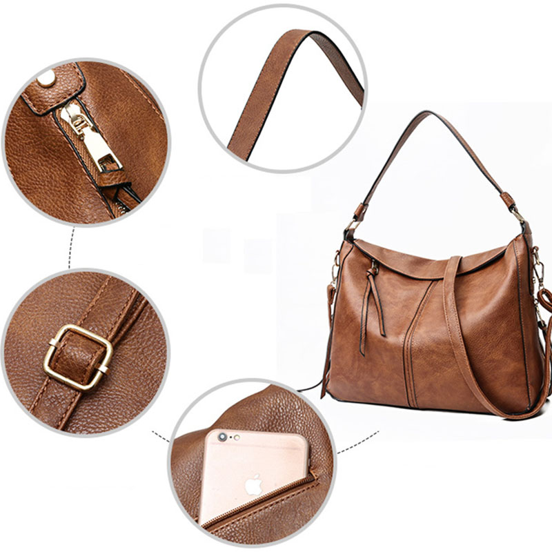 Women-handbags-women-shoulder-bag-large-tote-bags-hobo-soft-leather-ladies-R4X6 thumbnail 22