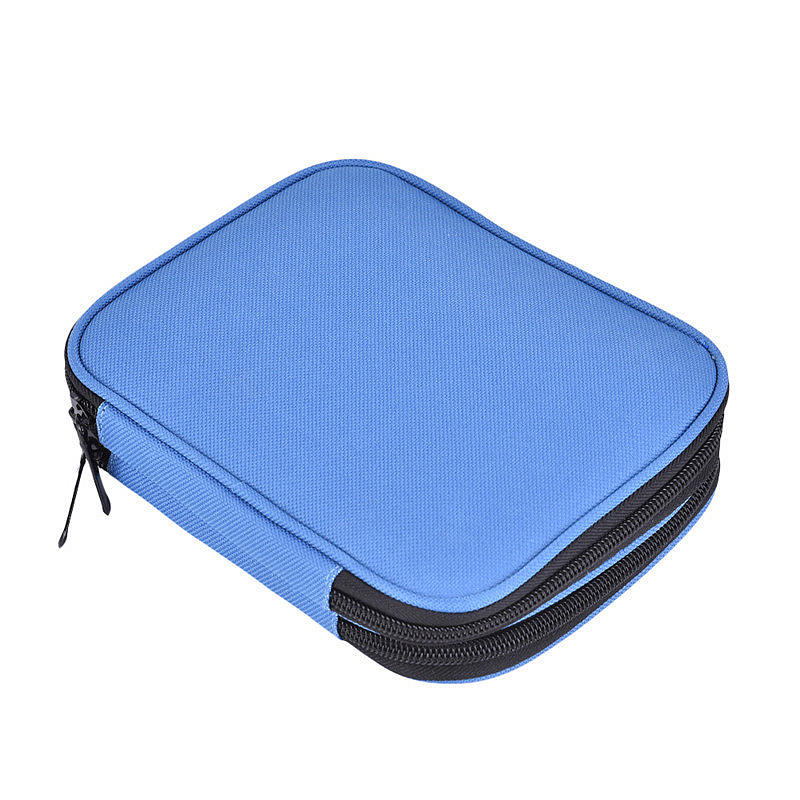 Crochet Hook Case Organizer Zipper Bag With Web Pockets For Various Crochet O1U3
