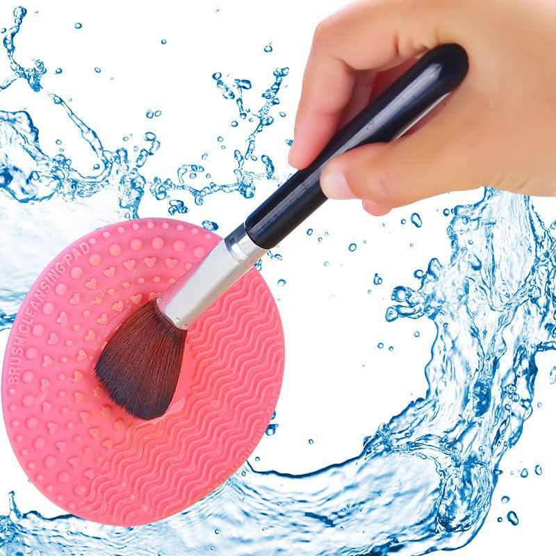 Silicone-Makeup-Brush-Cleansing-Pad-Palette-Brush-Cleaner-Cleaning-Mat-Wash-O2V1 thumbnail 7