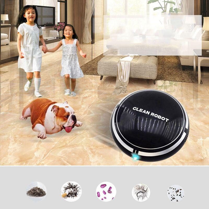 2-en-1-Robot-de-Barrido-de-Piso-Recargable-Colector-de-Polvo-Aspiradora-Robo-3N4 miniatura 9