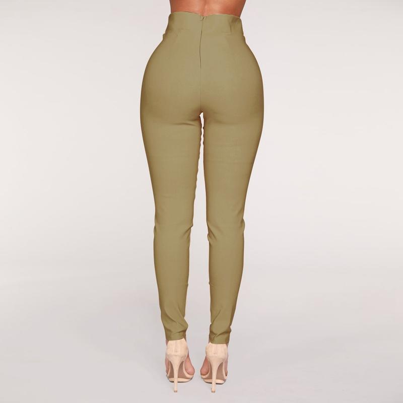 1X-Frauen-Hohe-Taille-Laessig-Hosen-Mode-Damen-Bogenken-Solide-Duenne-Duenn-R5Z2 Indexbild 14