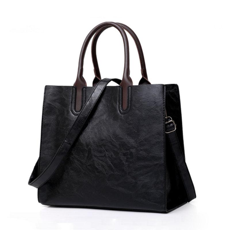1X-Womens-Leather-Handbags-Large-Capacity-Retro-Vintage-Hand-Top-Handle-BagC6S8 thumbnail 3