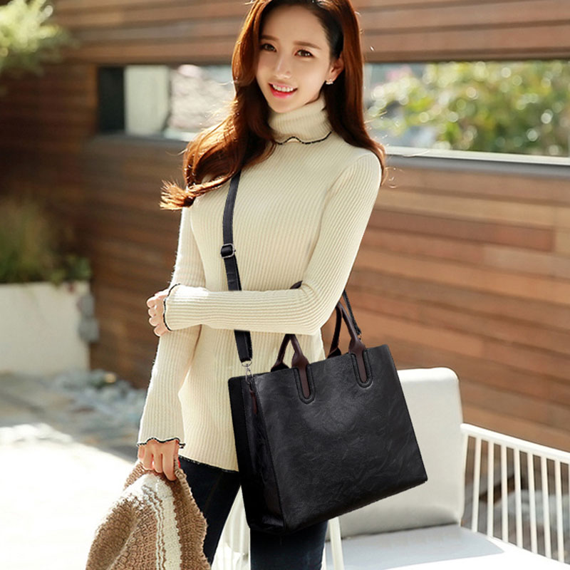 1X-Womens-Leather-Handbags-Large-Capacity-Retro-Vintage-Hand-Top-Handle-BagC6S8 thumbnail 4