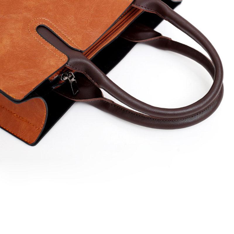 1X-Womens-Leather-Handbags-Large-Capacity-Retro-Vintage-Hand-Top-Handle-BagC6S8 thumbnail 6
