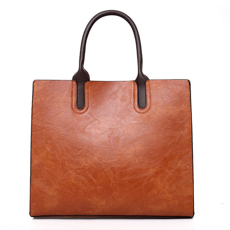 1X-Womens-Leather-Handbags-Large-Capacity-Retro-Vintage-Hand-Top-Handle-BagC6S8 thumbnail 9