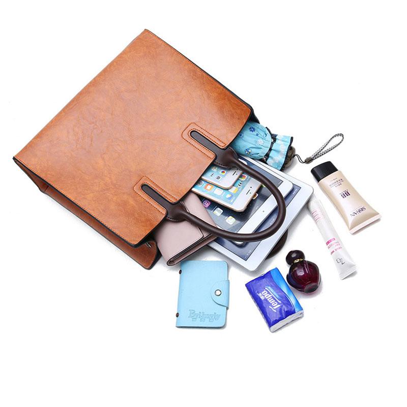 1X-Womens-Leather-Handbags-Large-Capacity-Retro-Vintage-Hand-Top-Handle-BagC6S8 thumbnail 10