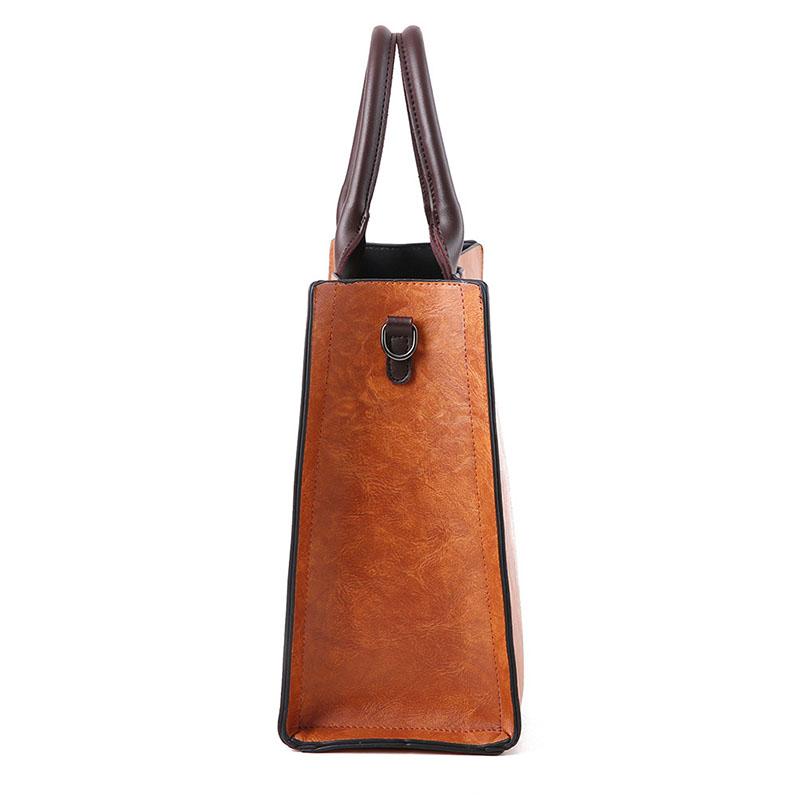 1X-Womens-Leather-Handbags-Large-Capacity-Retro-Vintage-Hand-Top-Handle-BagC6S8 thumbnail 11