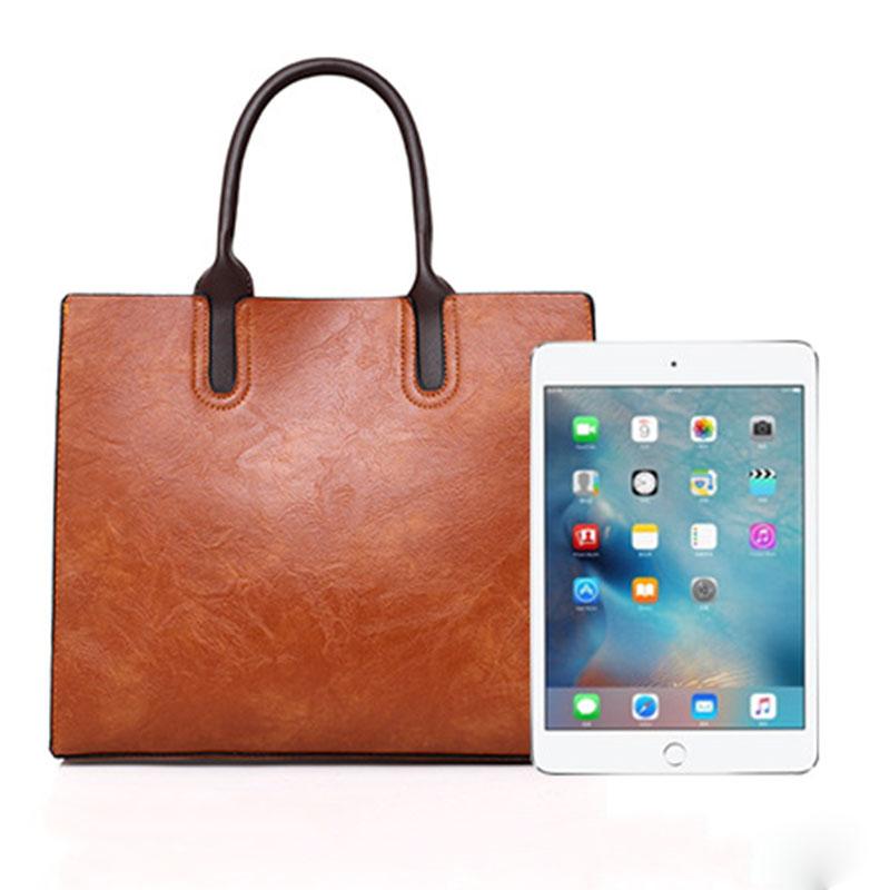 1X-Womens-Leather-Handbags-Large-Capacity-Retro-Vintage-Hand-Top-Handle-BagC6S8 thumbnail 12