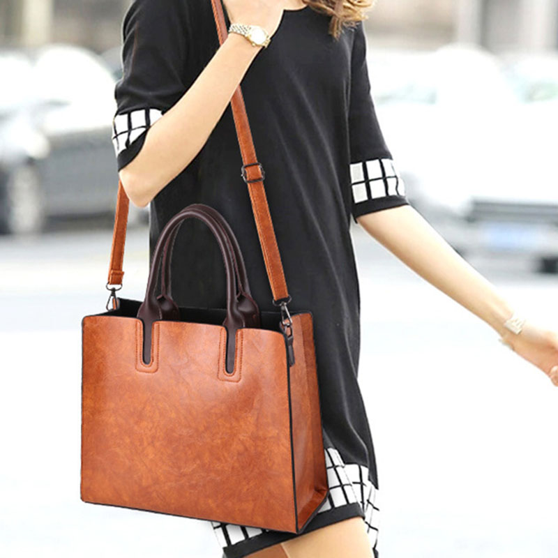 1X-Womens-Leather-Handbags-Large-Capacity-Retro-Vintage-Hand-Top-Handle-BagC6S8 thumbnail 14