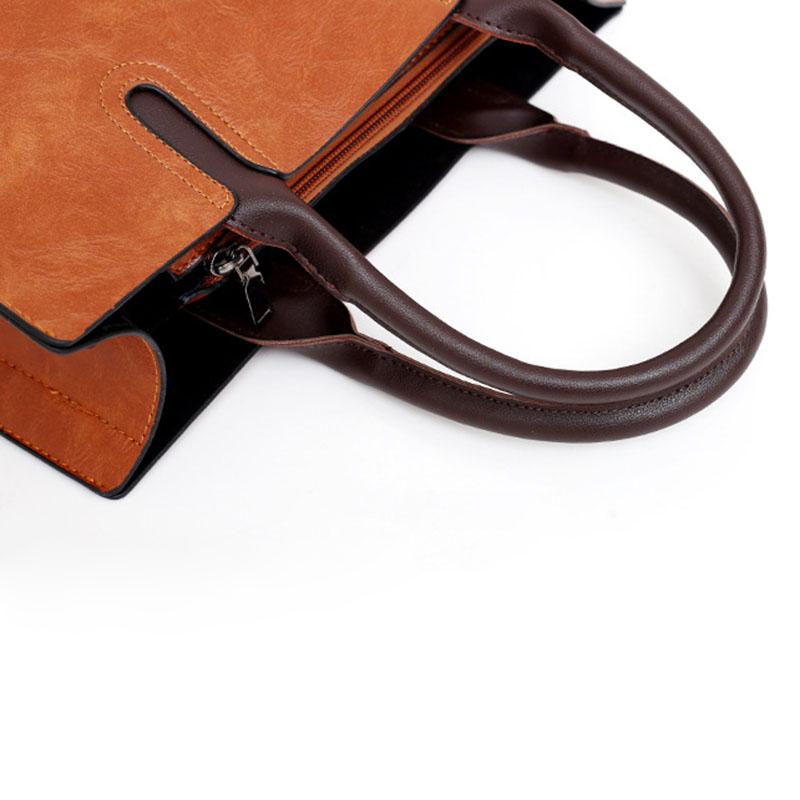 1X-Womens-Leather-Handbags-Large-Capacity-Retro-Vintage-Hand-Top-Handle-BagC6S8 thumbnail 15