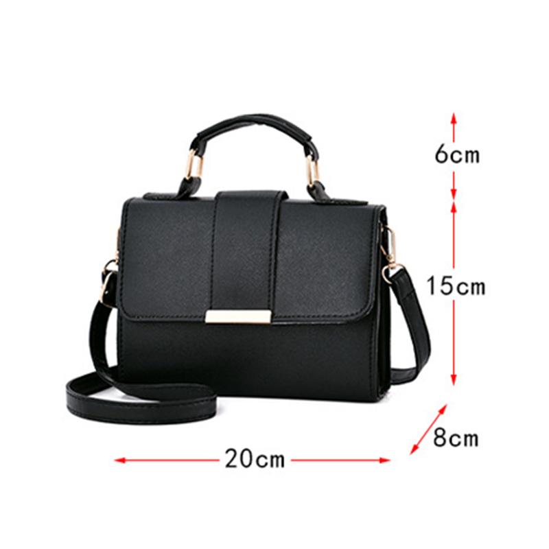 1X-Sommer-Mode-Frauen-Tasche-Handtaschen-PU-Umhaenge-Tasche-Kleine-Klappe-Kr-I6K4 Indexbild 15