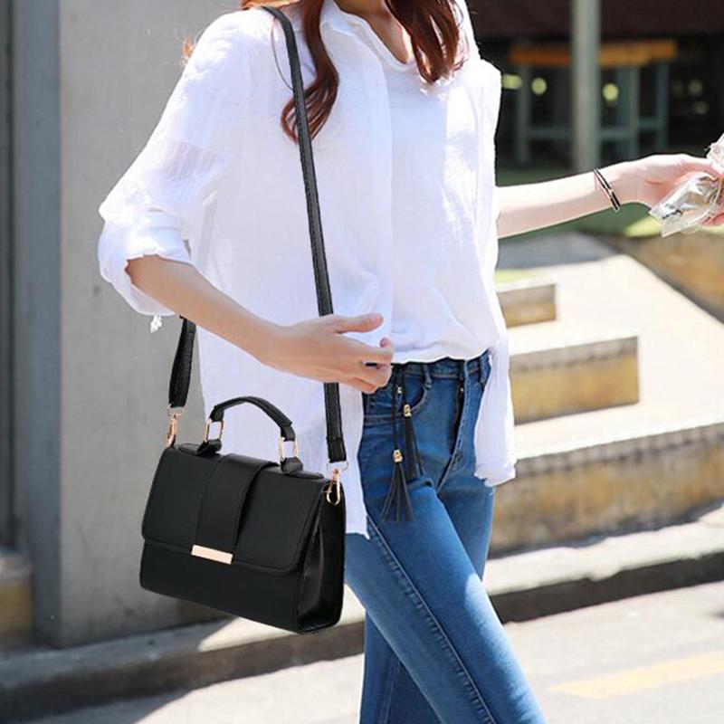 1X-Sommer-Mode-Frauen-Tasche-Handtaschen-PU-Umhaenge-Tasche-Kleine-Klappe-Kr-I6K4 Indexbild 16