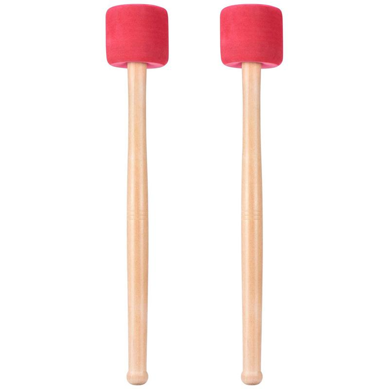 bass drum mallets sticks red foam mallet with wood handle for percussion bas 8o1 193571652836 ebay. Black Bedroom Furniture Sets. Home Design Ideas