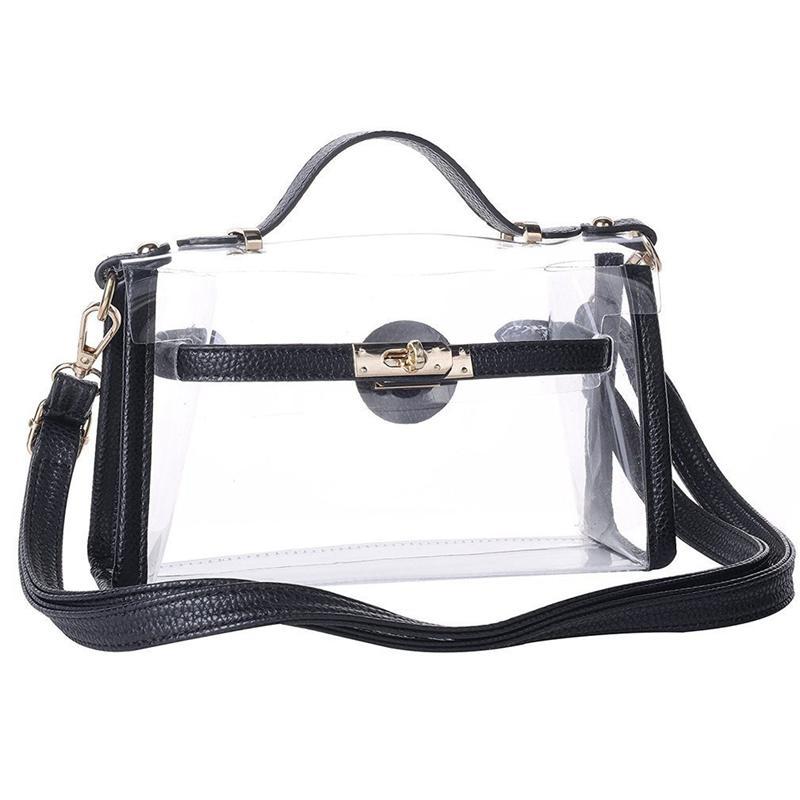 785de175a06f Details about Clear Crossbody Messenger Shoulder Bag Purse For Women  Adjustable Strap, Bl O1K2