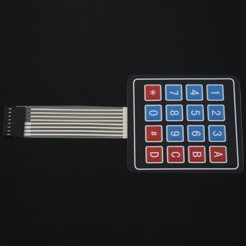 Arreglo de matriz 2PC 4x4 16 Llave Interruptor de Membrana Teclado Teclado Para Arduino Ras P4L1