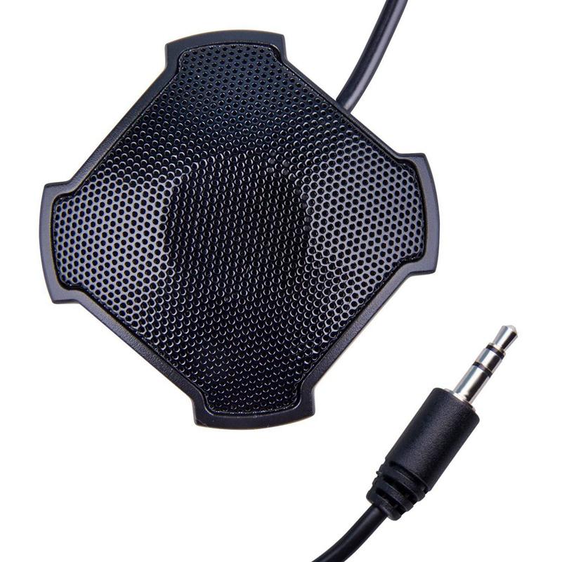 3,5 mm Stecker omnidirektionaler Kondensator Grenzflächenmikrofon für PC
