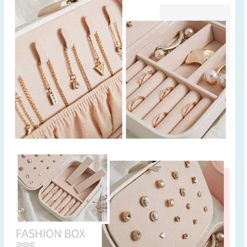 European-Pu-Leather-Jewelry-Boxes-Princess-Portable-Storage-Box-Multi-Layer-F2H2 thumbnail 7