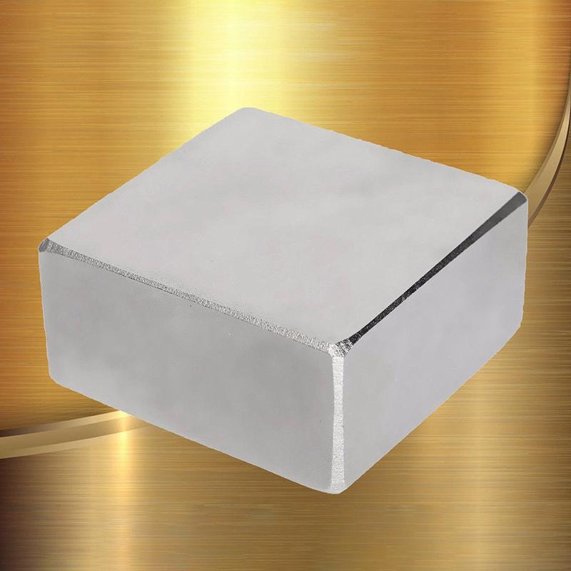 40x40x20mm Neodym Supermagnete N52 Quader Block Magnet Pinnwand Würfel Silbern