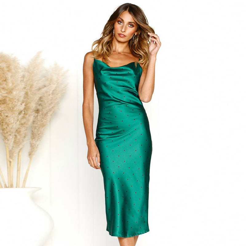thumbnail 27 - Women-Elegant-Dress-Backless-Spaghetti-Strap-Silk-Dress-Satin-Party-Club-CoA3J4