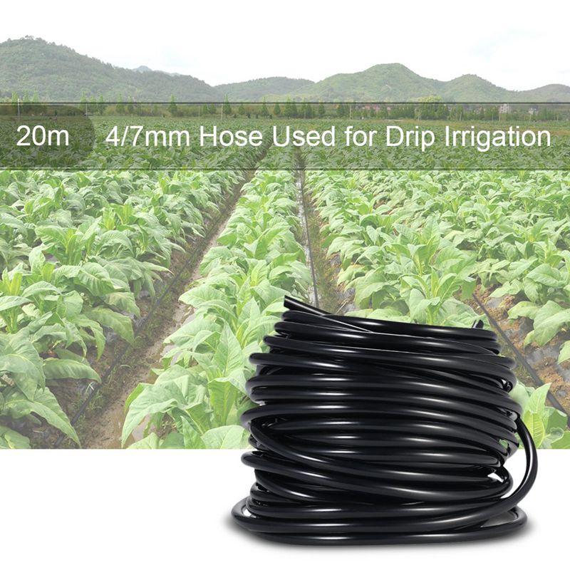 4//7Mm Système D/'Arrosage Tube de Raccordement Tuyau D/'Irrigation Noir 20M I1D9