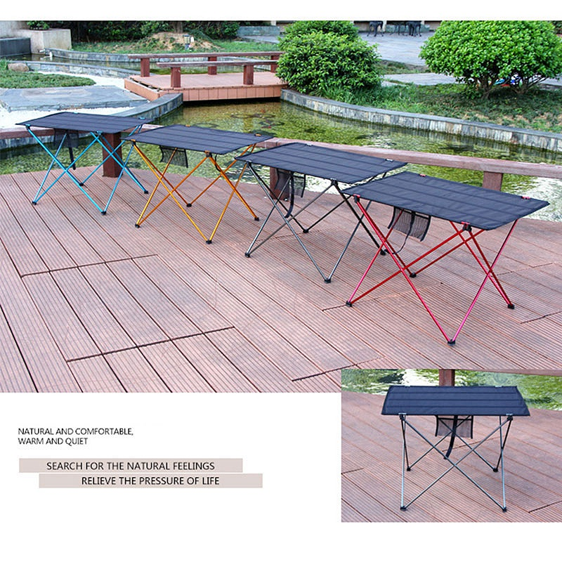 Table-Pliable-Table-De-Pique-Nique-De-Barbecue-Table-De-Camping-Portable-Ta-G6D1 miniature 4