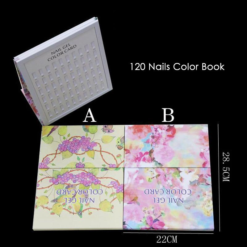 5X-False-Nail-Color-Book-Color-Display-Nail-Art-Gel-Polish-Color-Card-Nail-Col-T miniature 14