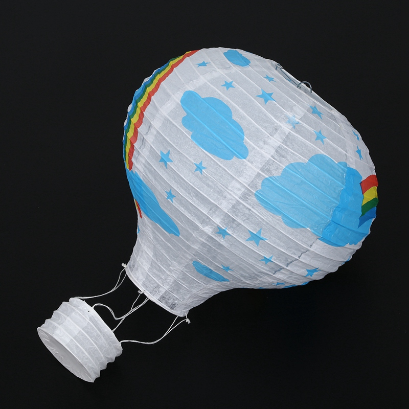 12inch-Hot-Air-Balloon-Paper-Lantern-Lampshade-Ceiling-Light-Wedding-Party-Y5A7 thumbnail 4