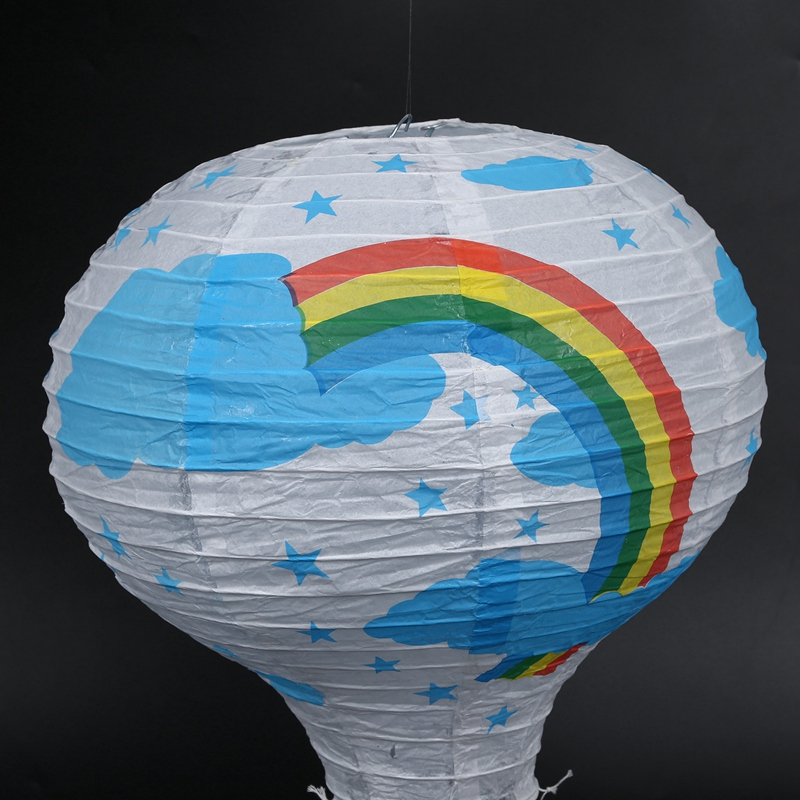12inch-Hot-Air-Balloon-Paper-Lantern-Lampshade-Ceiling-Light-Wedding-Party-Y5A7 thumbnail 7