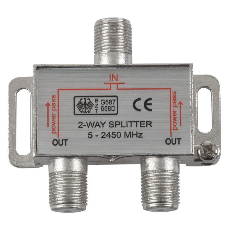 Sat F-Splitter 2fach Antennenverteiler Splitter Antennen Verteiler 2 fach Sat
