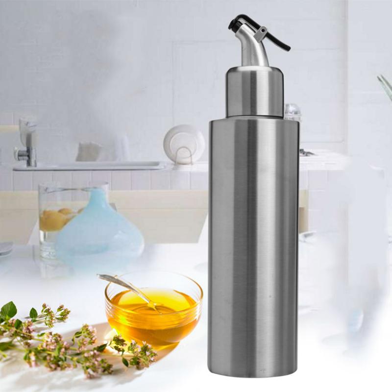 Edelstahl-Essig-Ol-Flasche-Leck-Nach-Hause-Beweis-A-Spender-Kochen-Silber-N8J5 Indexbild 3