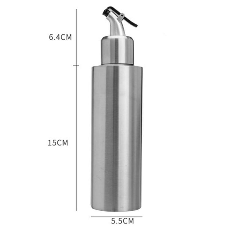 Edelstahl-Essig-Ol-Flasche-Leck-Nach-Hause-Beweis-A-Spender-Kochen-Silber-N8J5 Indexbild 6