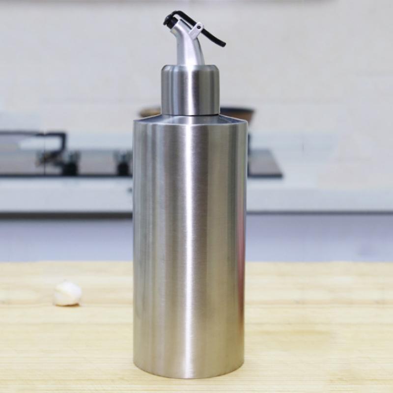 Edelstahl-Essig-Ol-Flasche-Leck-Nach-Hause-Beweis-A-Spender-Kochen-Silber-N8J5 Indexbild 8