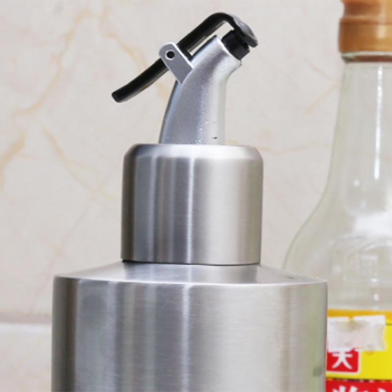 Edelstahl-Essig-Ol-Flasche-Leck-Nach-Hause-Beweis-A-Spender-Kochen-Silber-N8J5 Indexbild 10