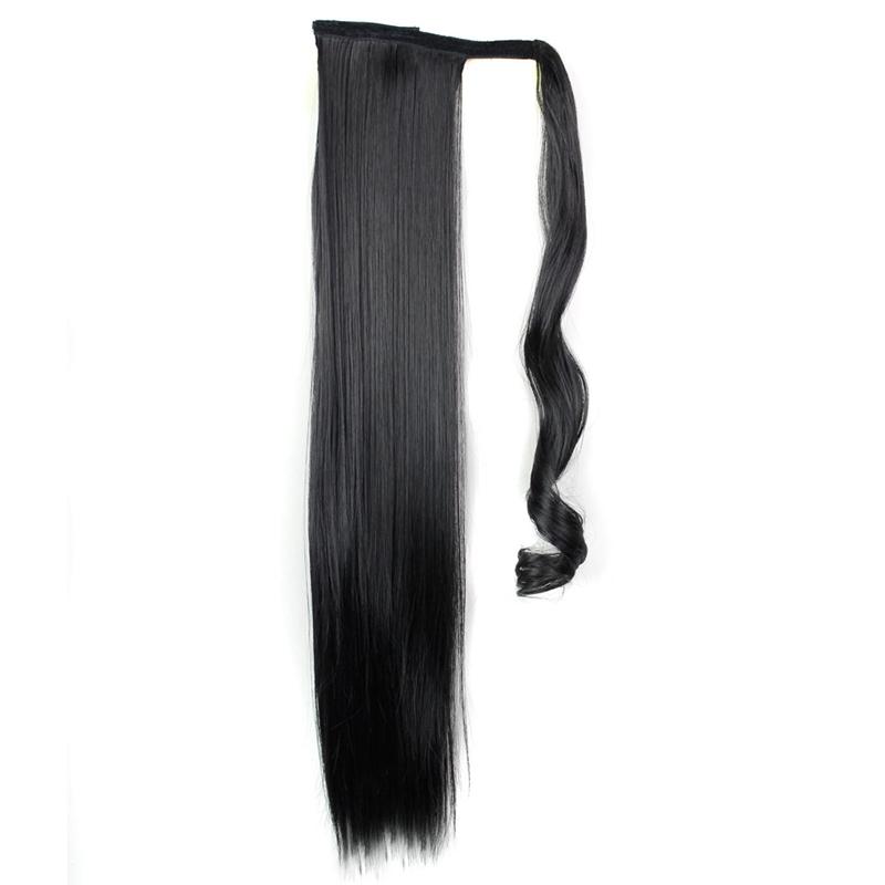 Extension-De-Cheveux-Queue-De-Cheval-Postiche-Queue-SynthETique-Longue-Ligne-7V7 miniature 3