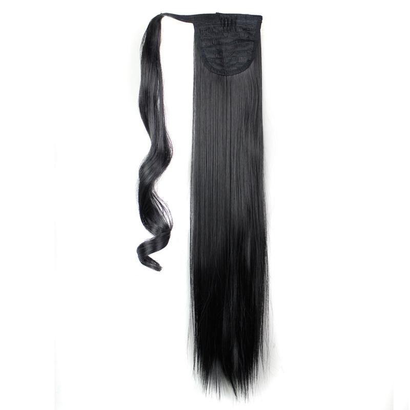 Extension-De-Cheveux-Queue-De-Cheval-Postiche-Queue-SynthETique-Longue-Ligne-7V7 miniature 6