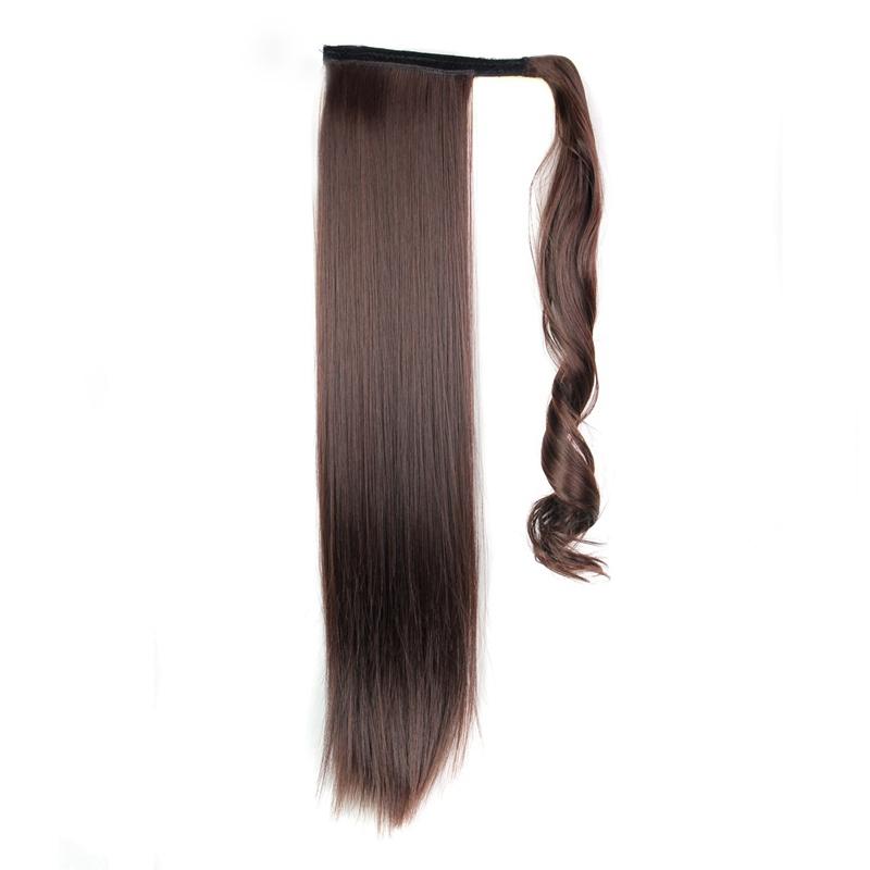 Extension-De-Cheveux-Queue-De-Cheval-Postiche-Queue-SynthETique-Longue-Ligne-7V7 miniature 15
